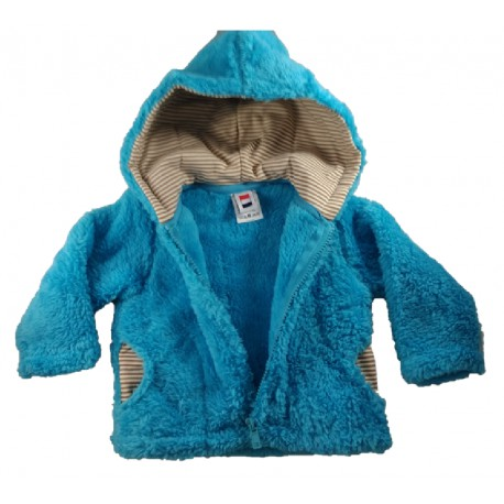 Veste polaire bébé Samoëns bleu turquoise
