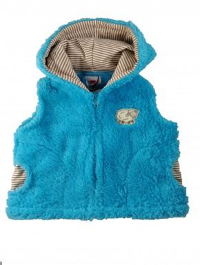 Veste polaire sans manche bébé Métabief bleu turquoise