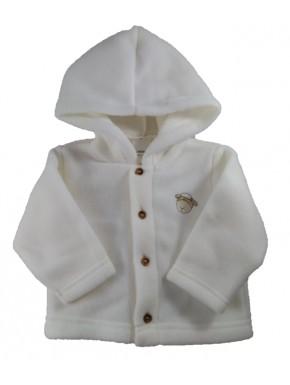 Veste polaire bébé Chorges écru