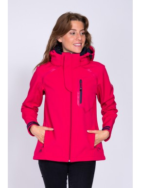 Veste technique softshell Fushia