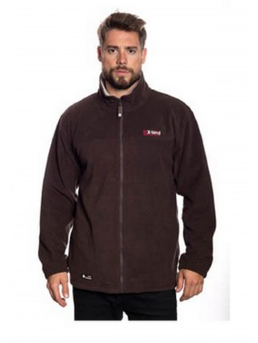 Veste polaire homme WARM Marron