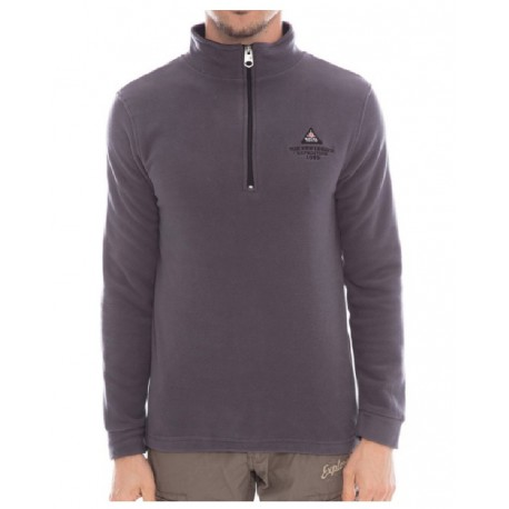 Pull polaire col zip Gris